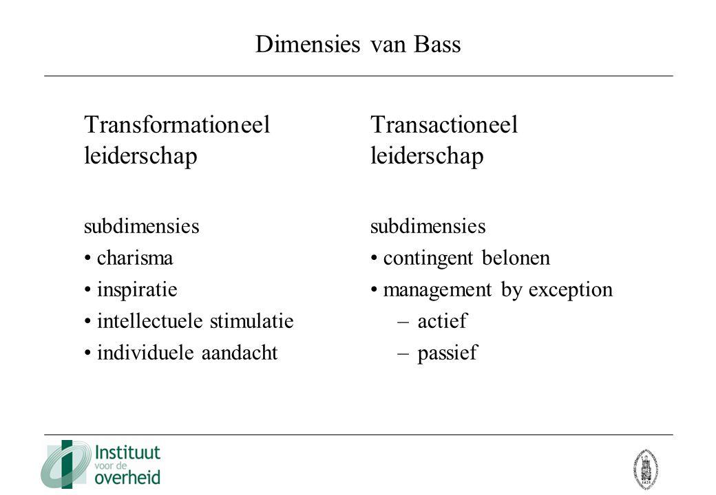 Transformationeel leiderschap Transactioneel leiderschap
