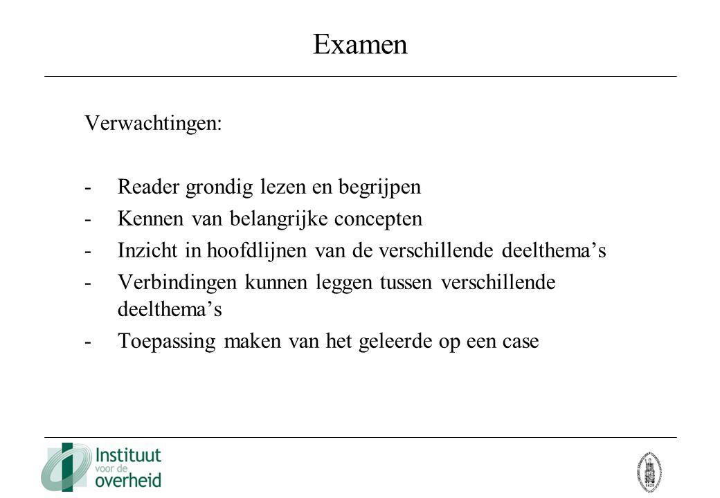 Examen Verwachtingen: Reader grondig lezen en begrijpen