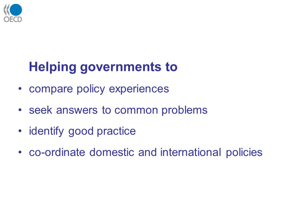Helping governments to