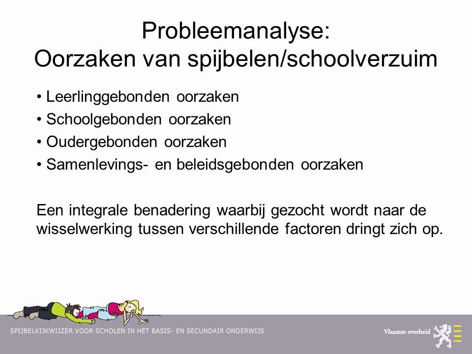 Probleemanalyse: Oorzaken van spijbelen/schoolverzuim