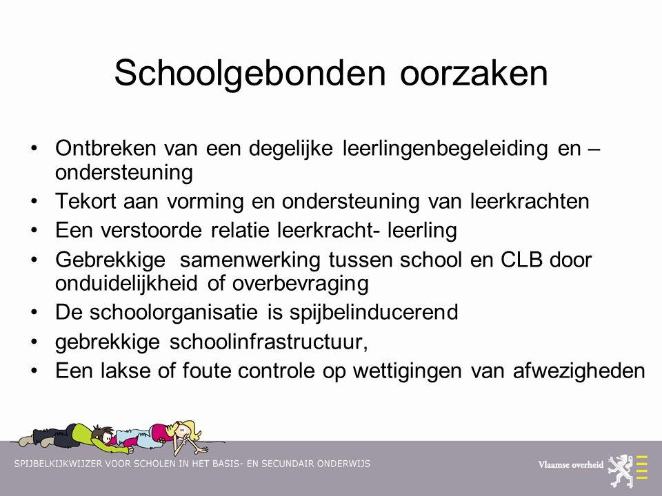 Schoolgebonden oorzaken