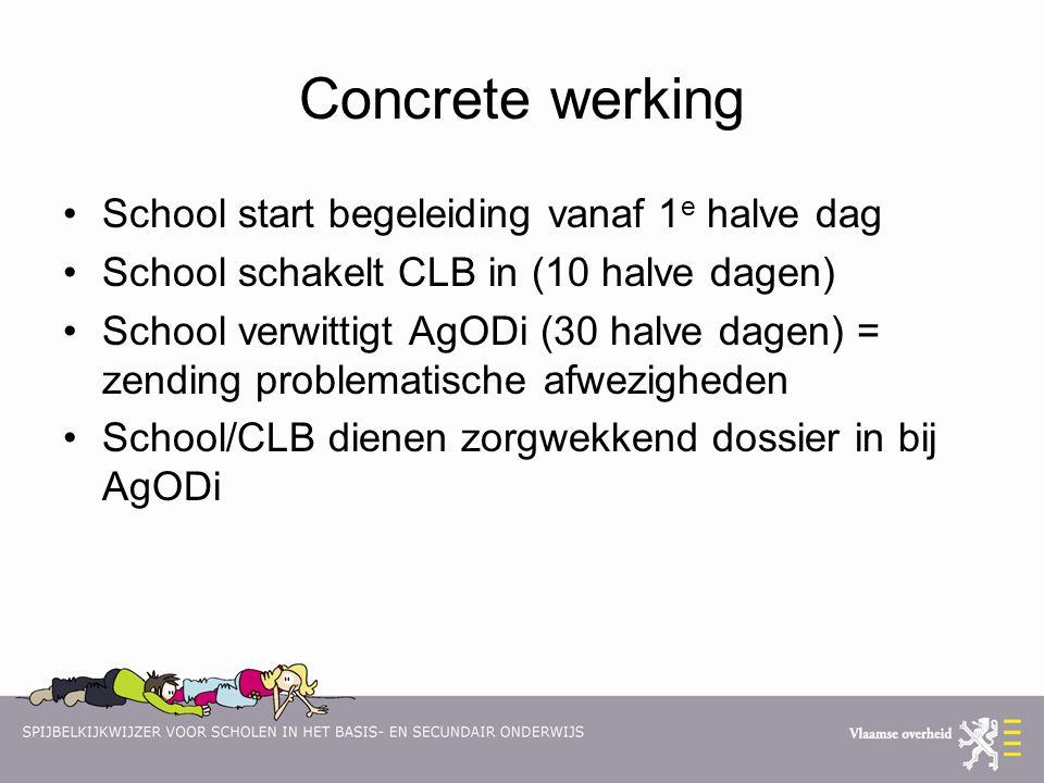 Concrete werking School start begeleiding vanaf 1e halve dag