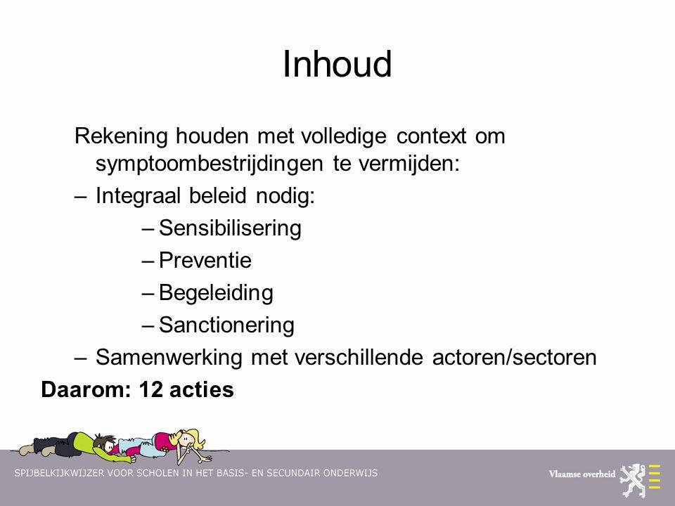 Inhoud Rekening houden met volledige context om symptoombestrijdingen te vermijden: Integraal beleid nodig: