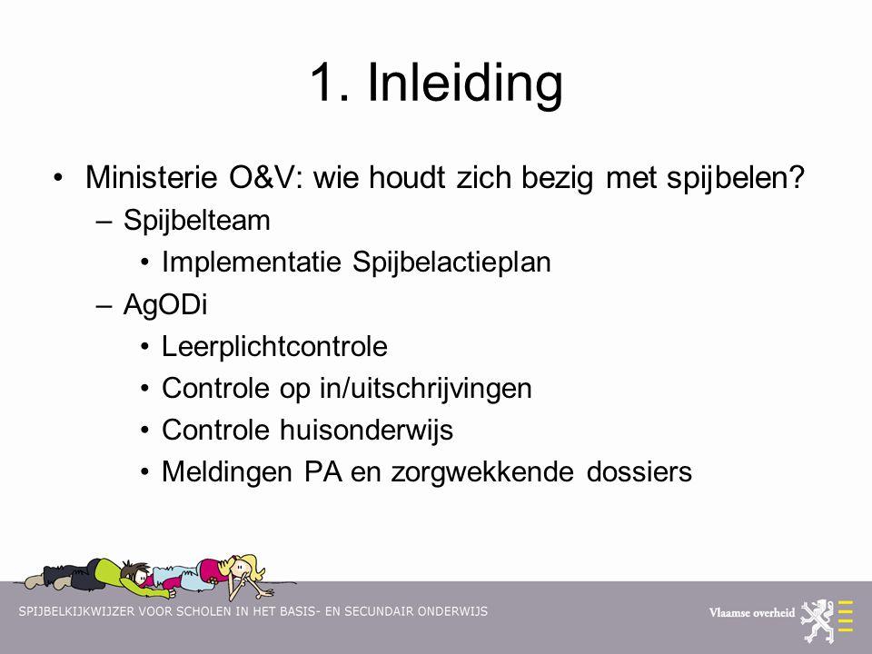 1. Inleiding Ministerie O&V: wie houdt zich bezig met spijbelen