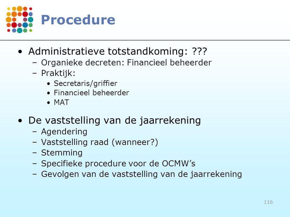 Procedure Administratieve totstandkoming: