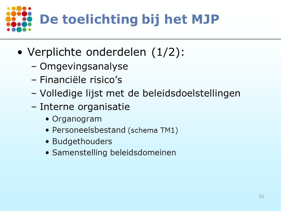 De toelichting bij het MJP