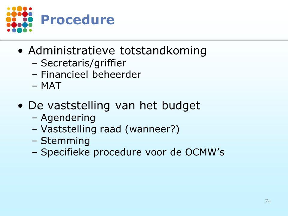 Procedure Administratieve totstandkoming