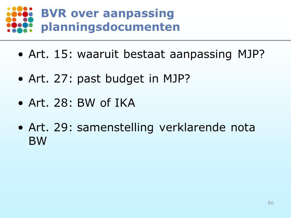BVR over aanpassing planningsdocumenten