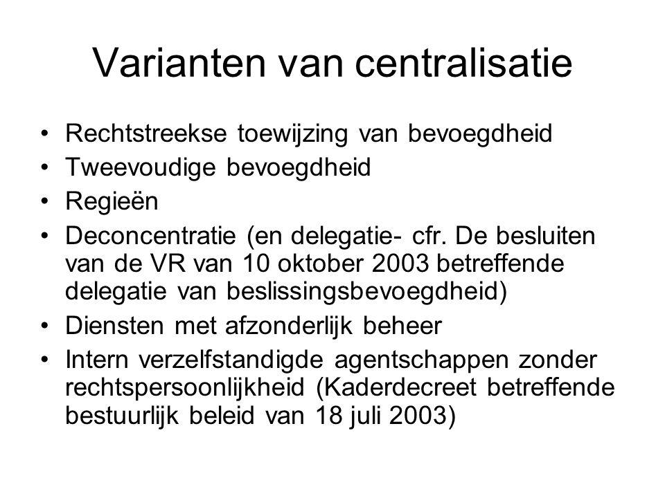 Varianten van centralisatie