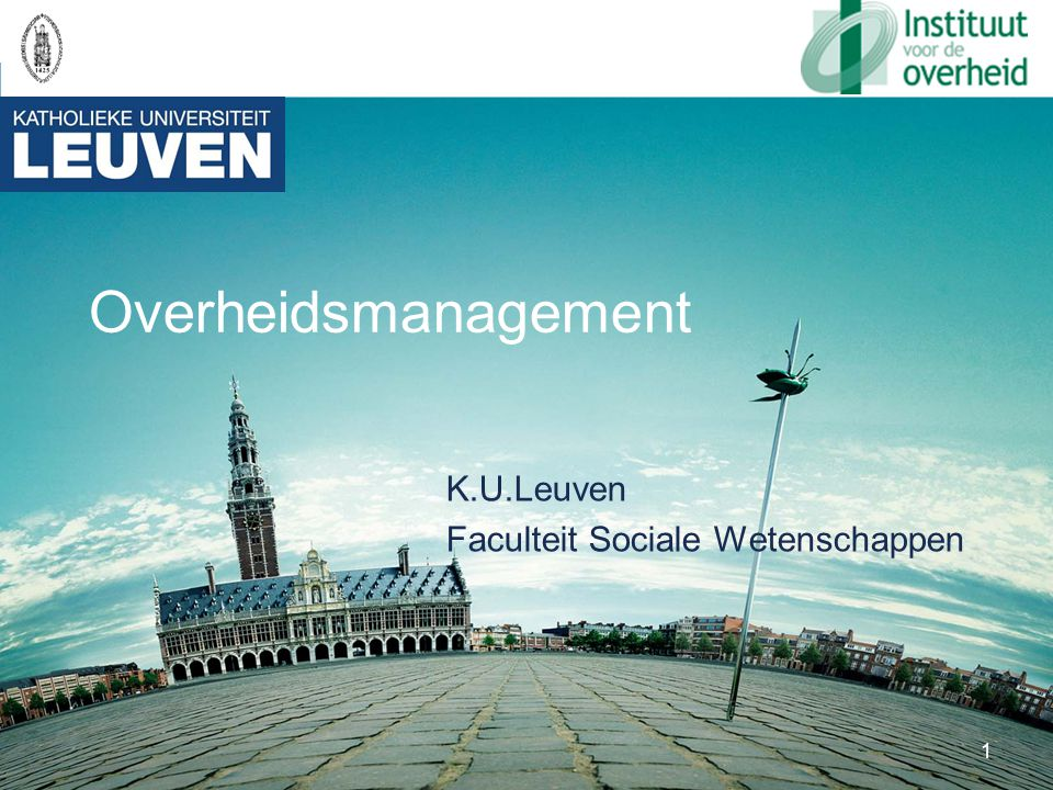 K.U.Leuven Faculteit Sociale Wetenschappen