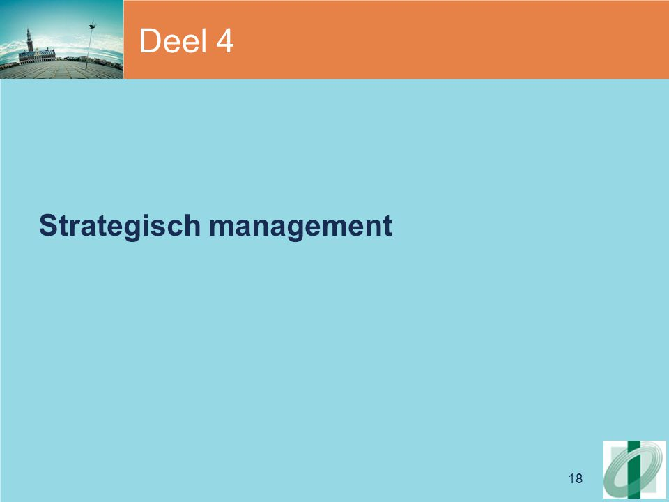 Deel 4 Strategisch management