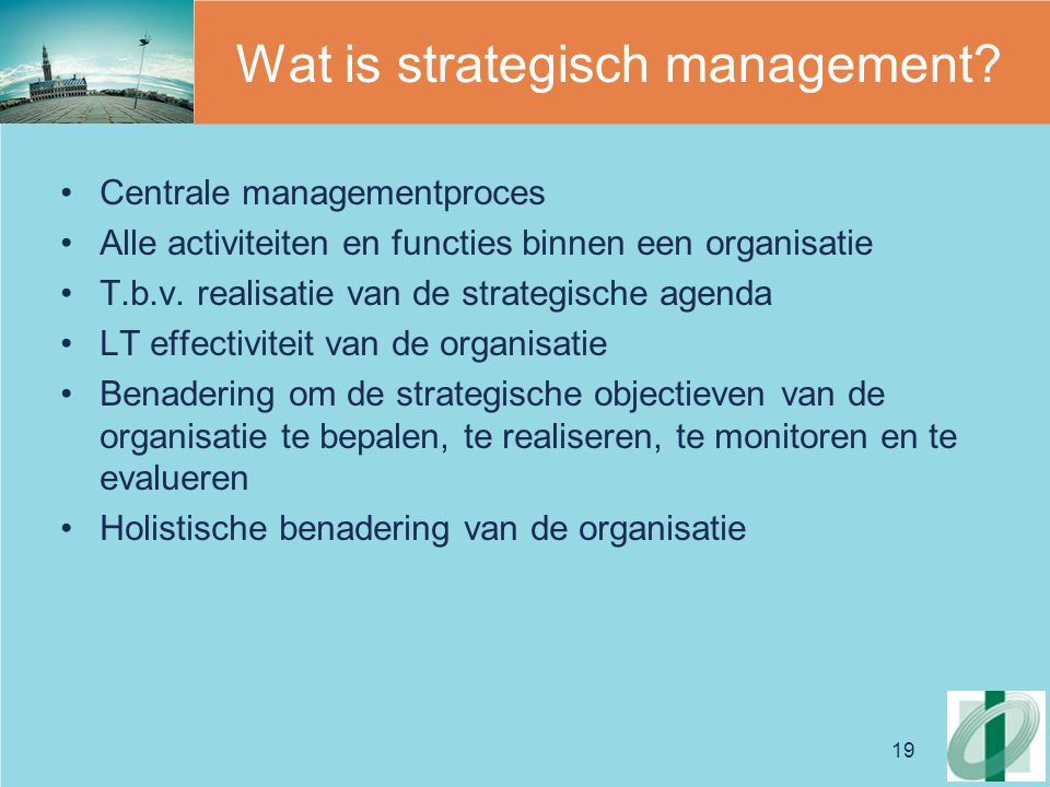 Wat is strategisch management