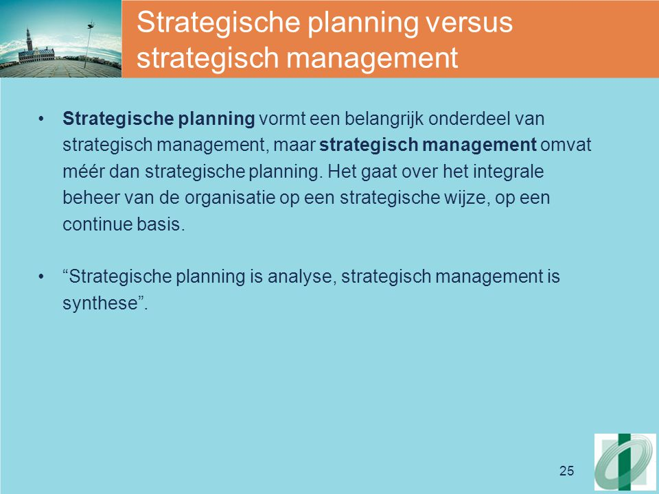 Strategische planning versus strategisch management