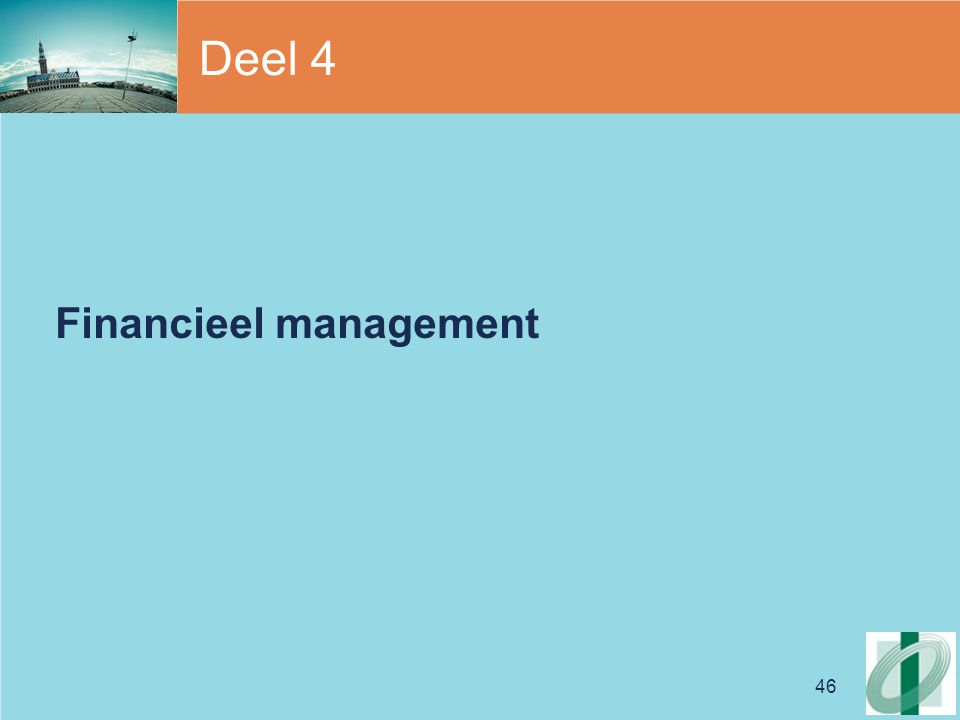Deel 4 Financieel management