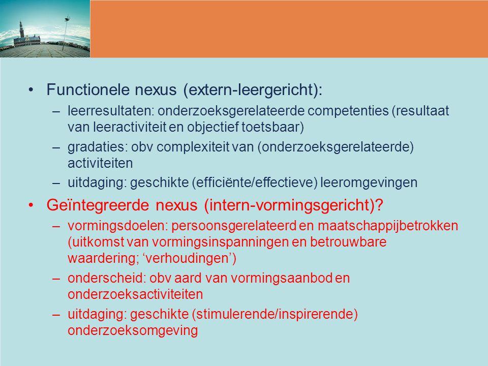 Functionele nexus (extern-leergericht):