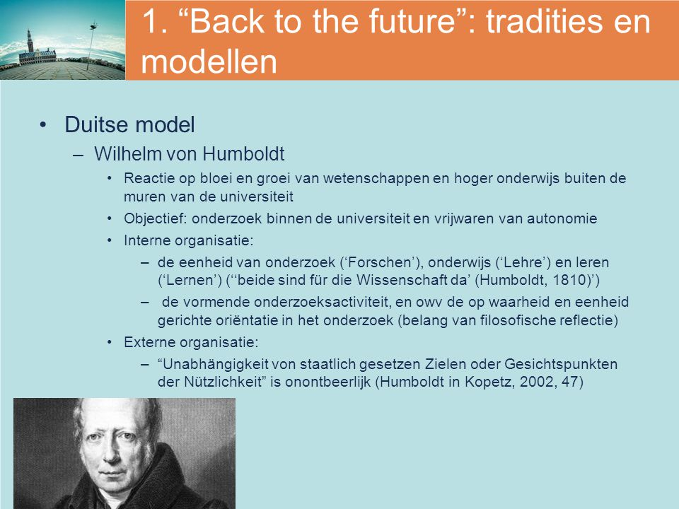 1. Back to the future : tradities en modellen