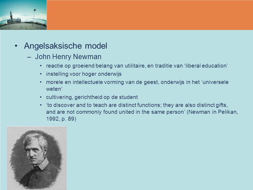 Angelsaksische model John Henry Newman