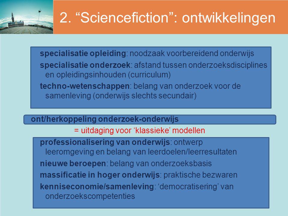 2. Sciencefiction : ontwikkelingen