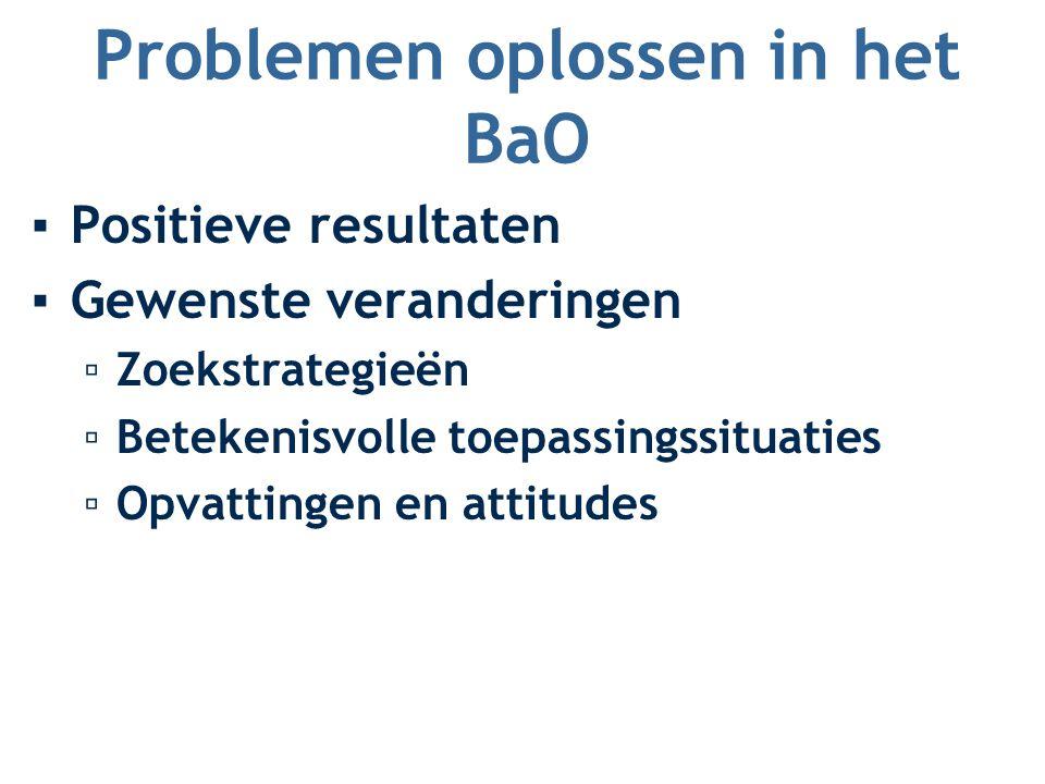 Problemen oplossen in het BaO