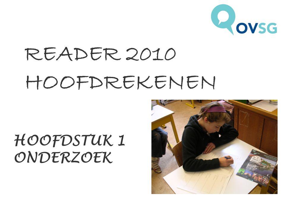 READER 2010 HOOFDREKENEN HOOFDSTUK 1 ONDERZOEK