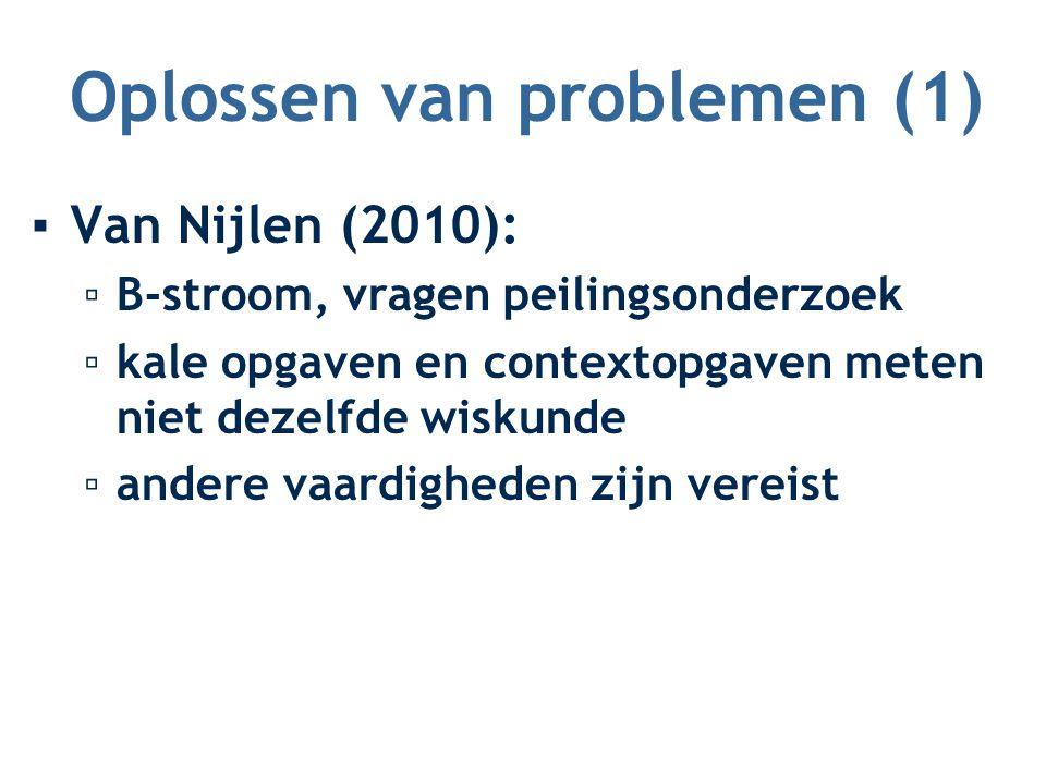 Oplossen van problemen (1)