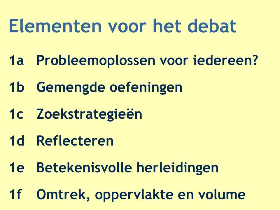 Elementen voor het debat