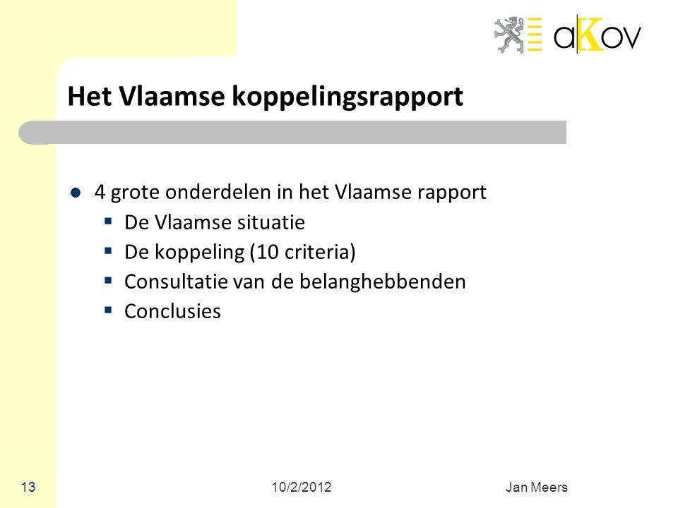 Het Vlaamse koppelingsrapport