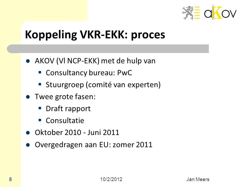 Koppeling VKR-EKK: proces