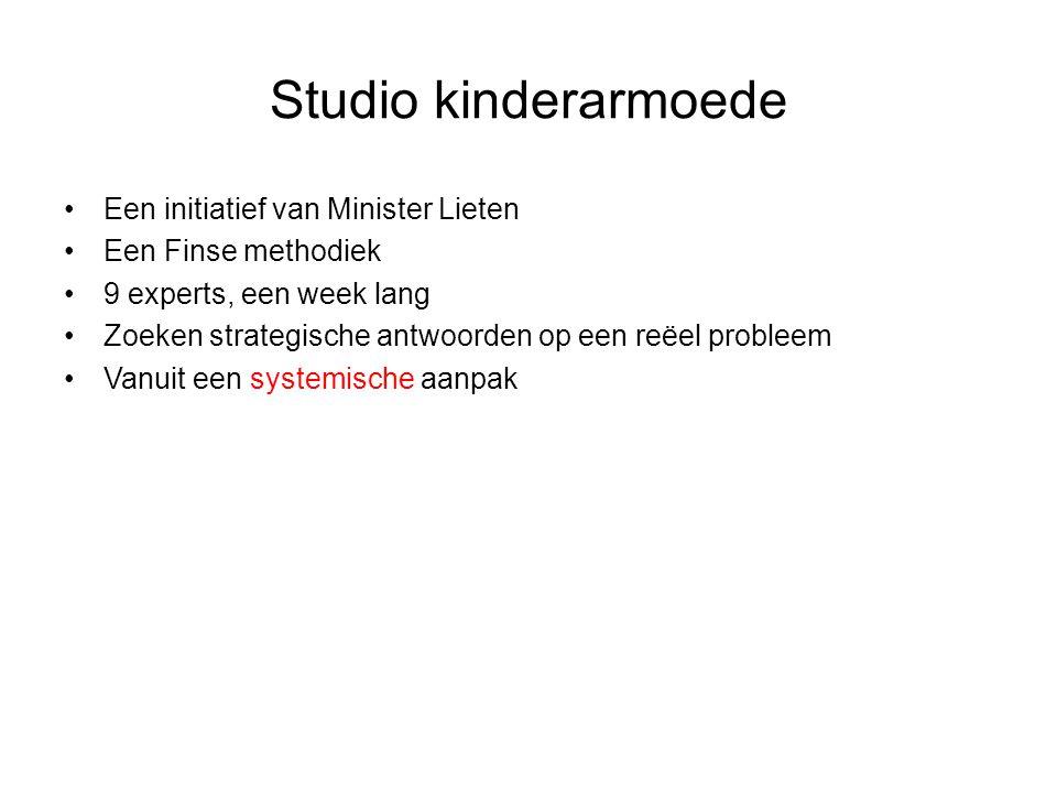 Studio kinderarmoede Een initiatief van Minister Lieten