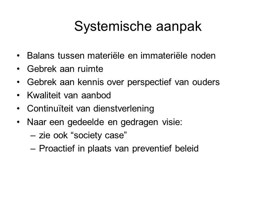 Systemische aanpak Balans tussen materiële en immateriële noden