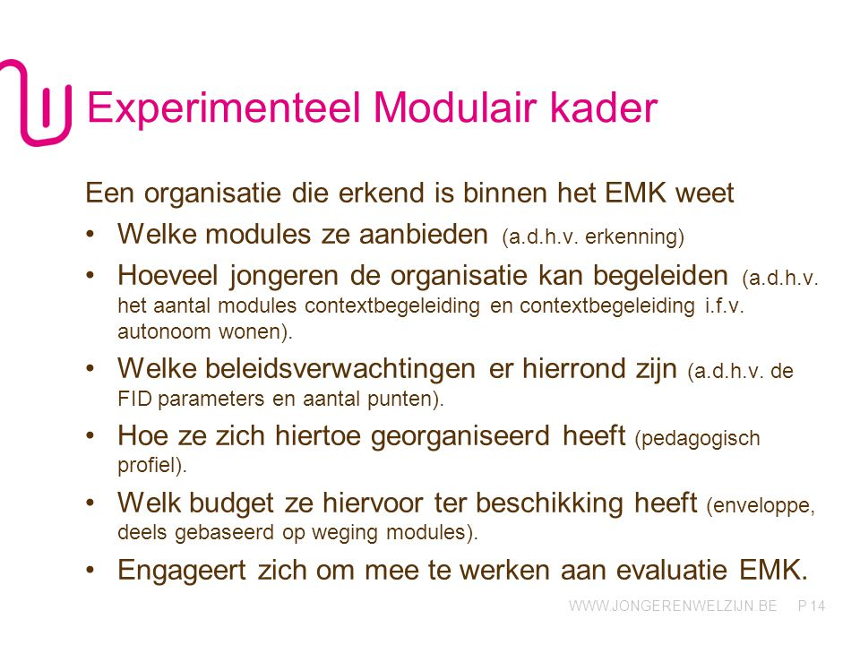 Experimenteel Modulair kader