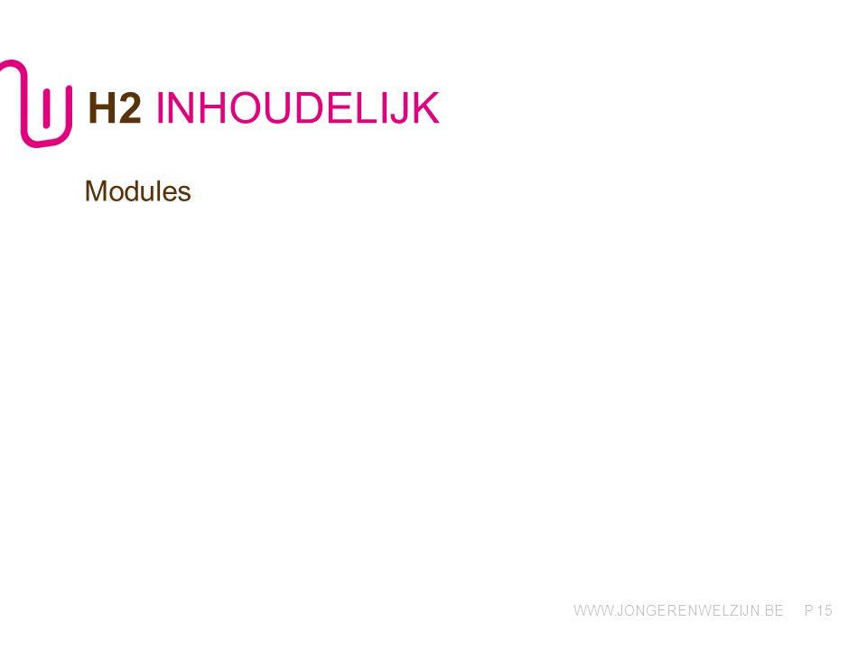 H2 INHOUDELIJK Modules