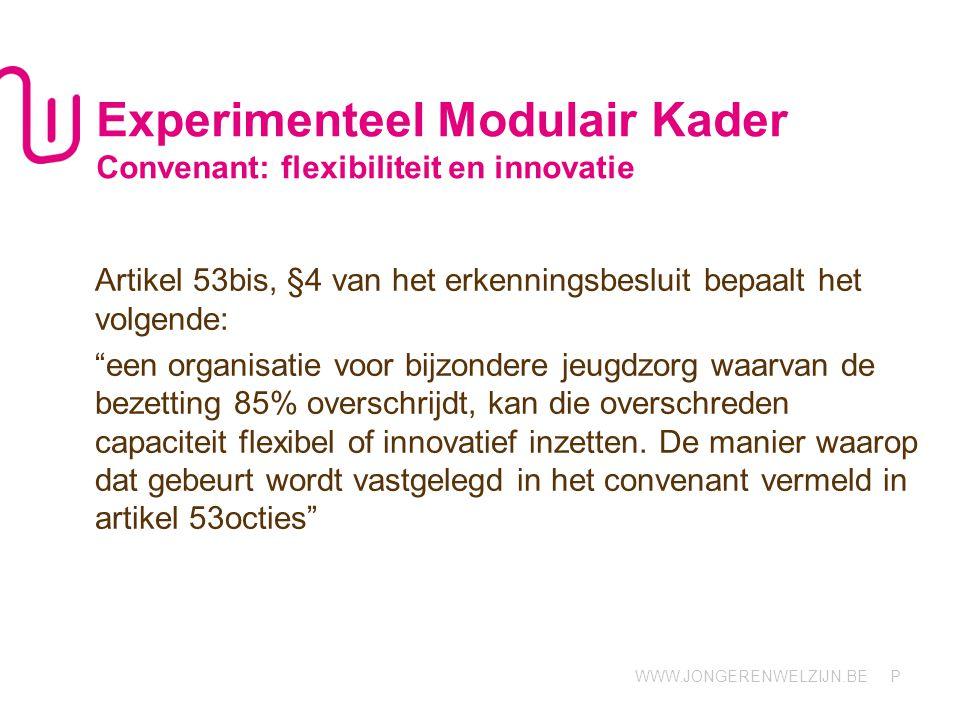 Experimenteel Modulair Kader Convenant: flexibiliteit en innovatie