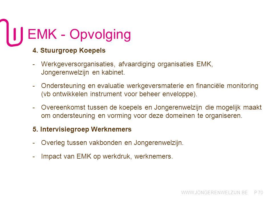 EMK - Opvolging 4. Stuurgroep Koepels