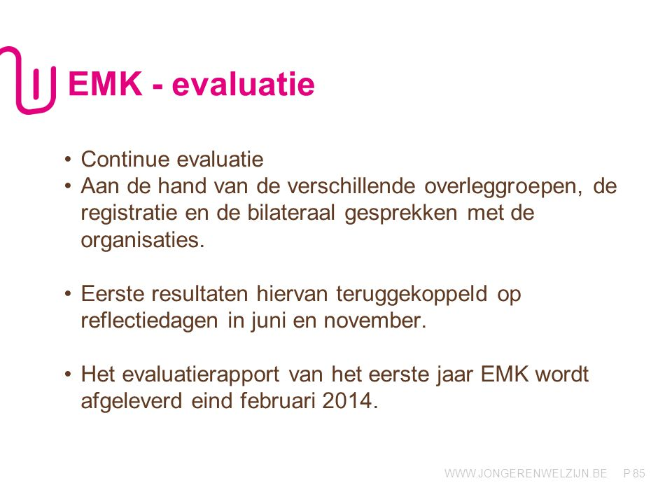 EMK - evaluatie Continue evaluatie