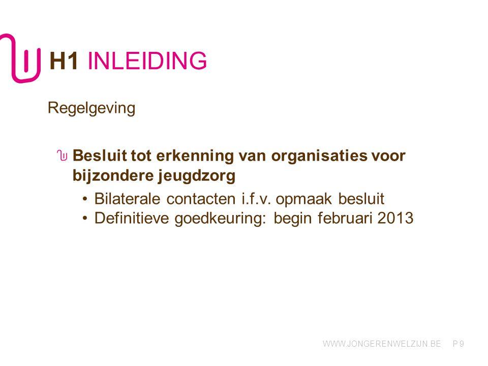 H1 INLEIDING Regelgeving