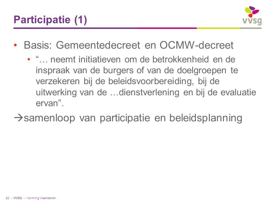 Basis: Gemeentedecreet en OCMW-decreet