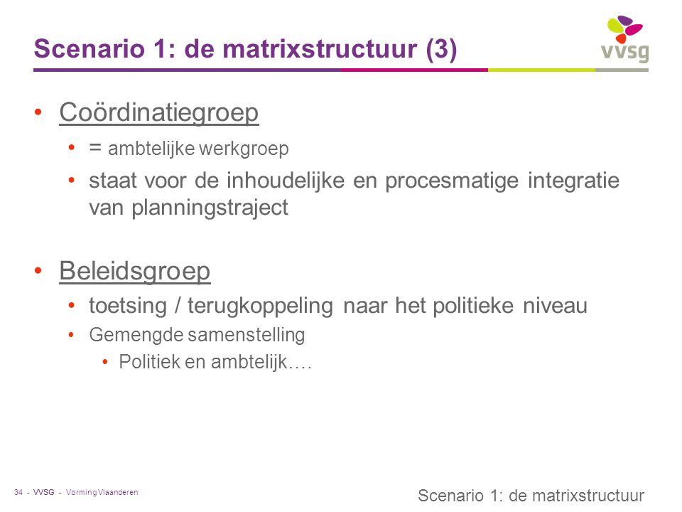 Scenario 1: de matrixstructuur (3)