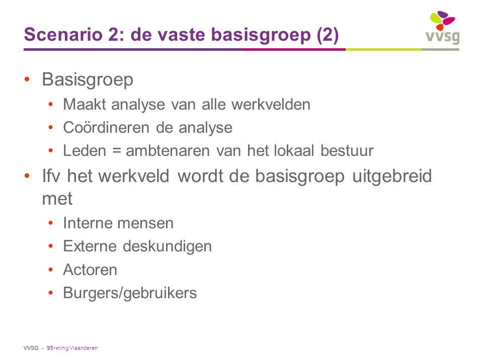 Scenario 2: de vaste basisgroep (2)