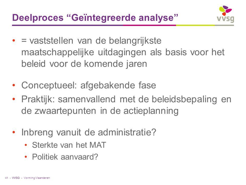 Deelproces Geïntegreerde analyse