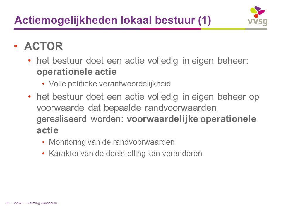 Actiemogelijkheden lokaal bestuur (1)