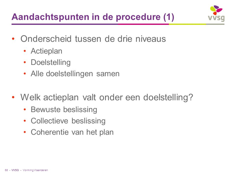 Aandachtspunten in de procedure (1)