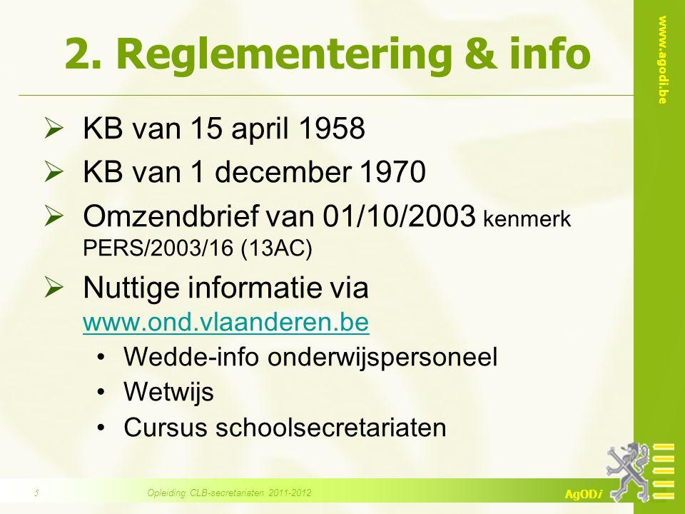 Opleiding CLB-secretariaten 2011-2012