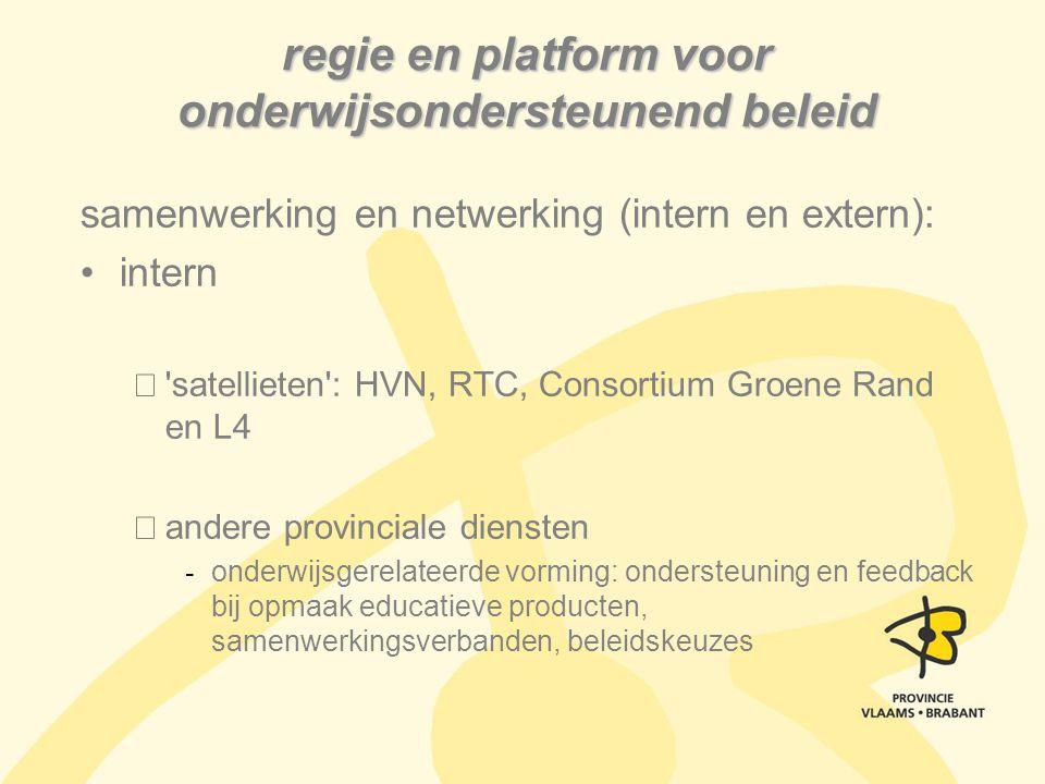 regie en platform voor onderwijsondersteunend beleid