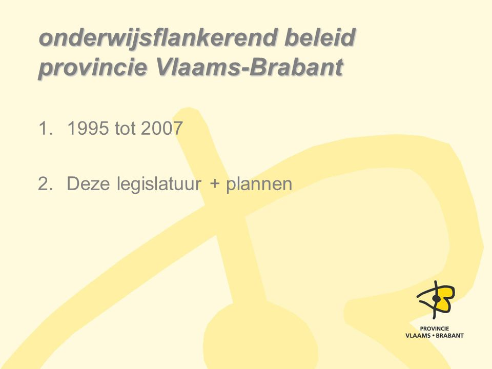 onderwijsflankerend beleid provincie Vlaams-Brabant