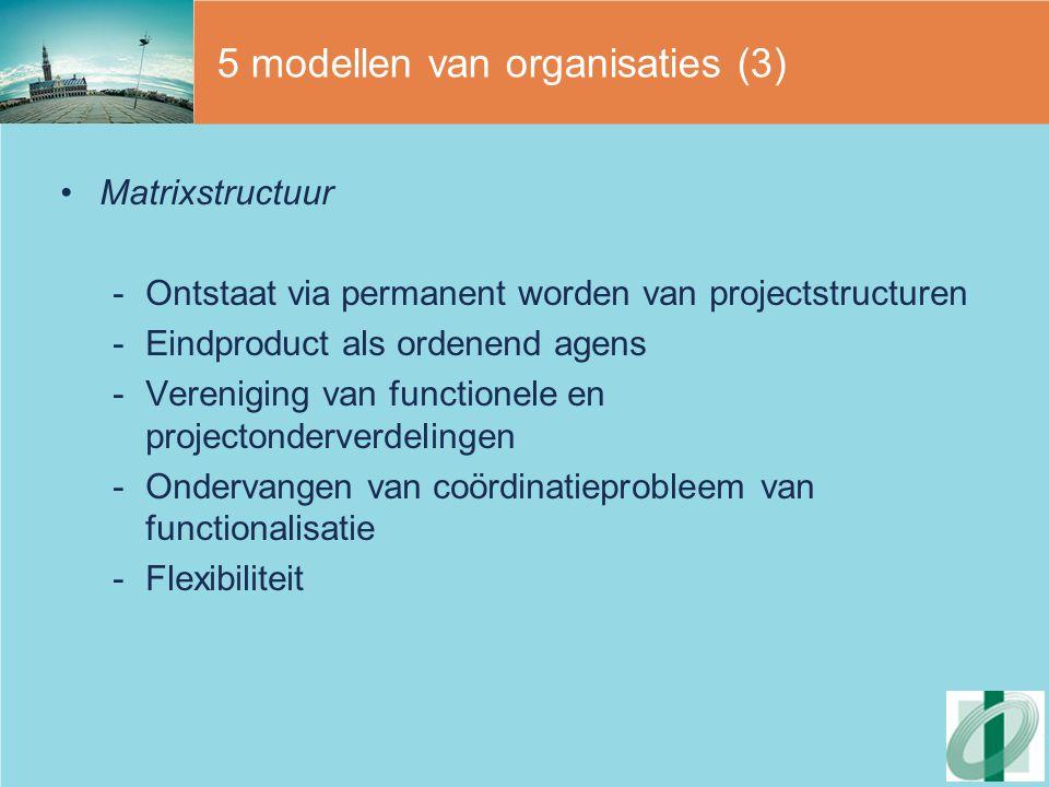 5 modellen van organisaties (3)