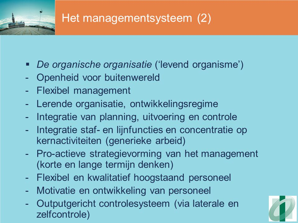 Het managementsysteem (2)