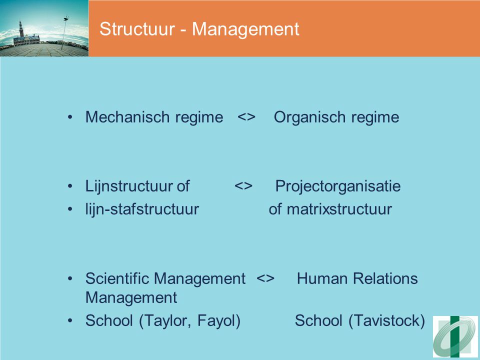 Structuur - Management