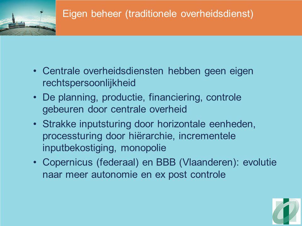 Eigen beheer (traditionele overheidsdienst)