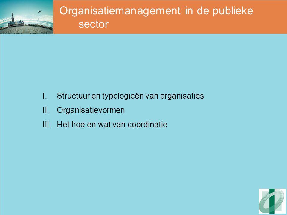 Organisatiemanagement in de publieke sector